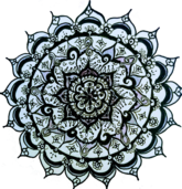 natalie's white mandala drawing